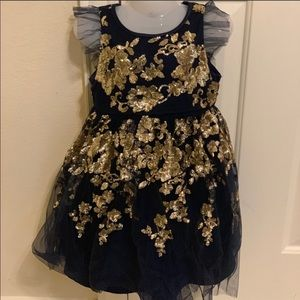 Monsoon toddler girl dress size 4 yr net/ sequins